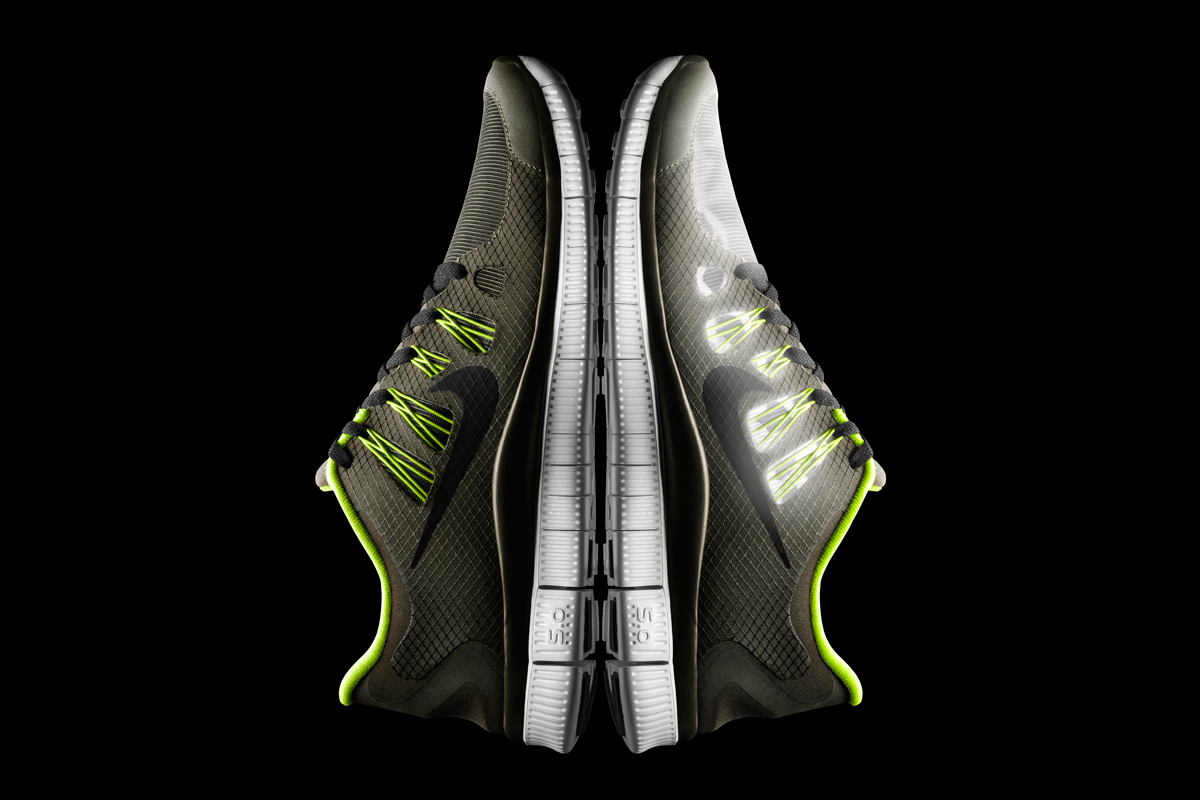 Nike Free 5.0+ Shield Dark Loden/Black-Volt-Pure Platinum