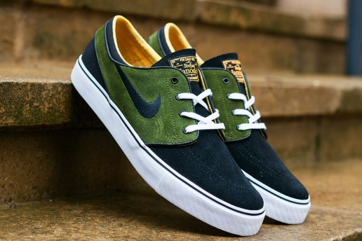 Nike SB Zoom Stefan Janoski Black/Legion Green-Laser Orange