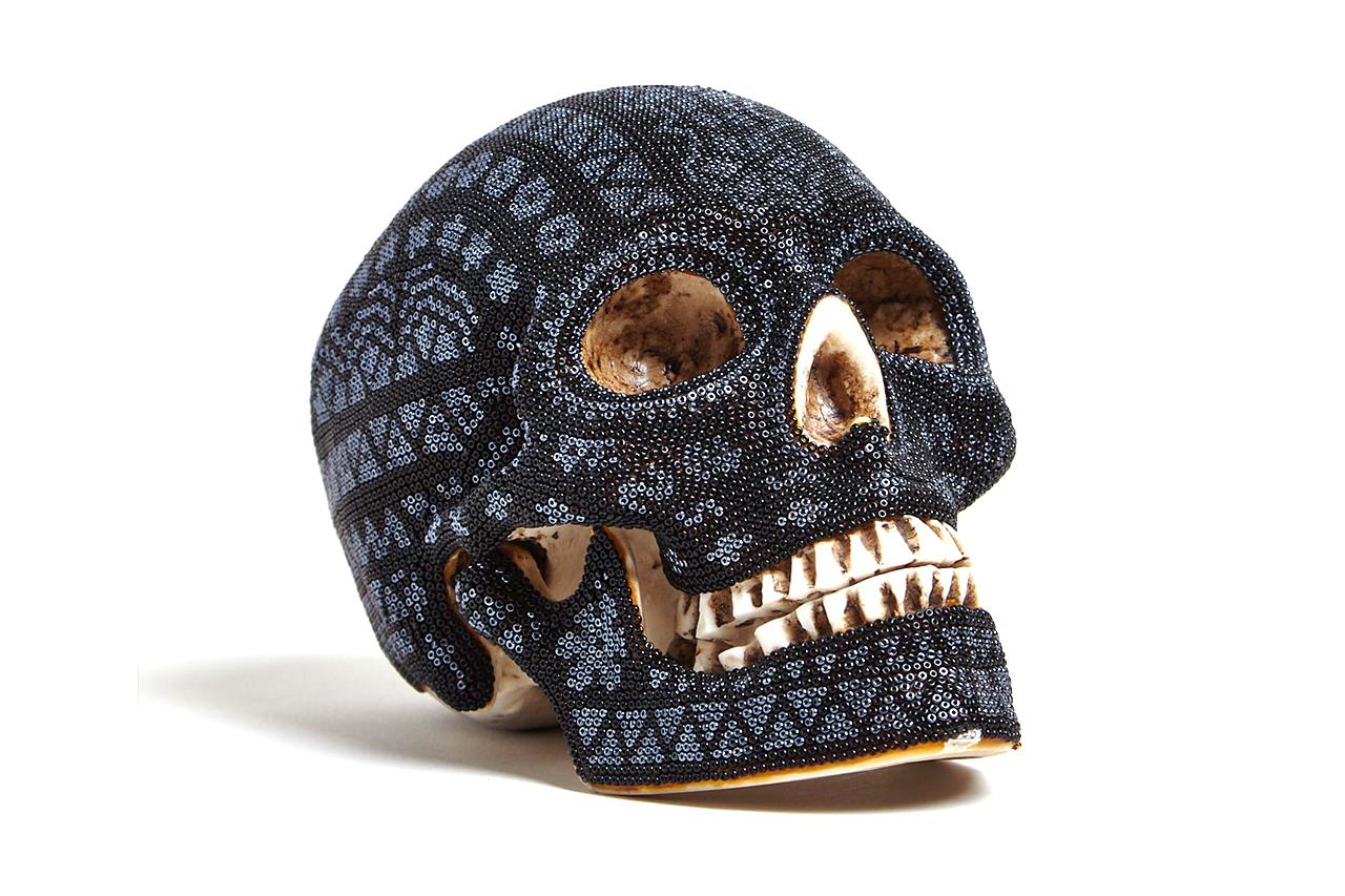 Our Exquisite Corpse Huichol Black Skull