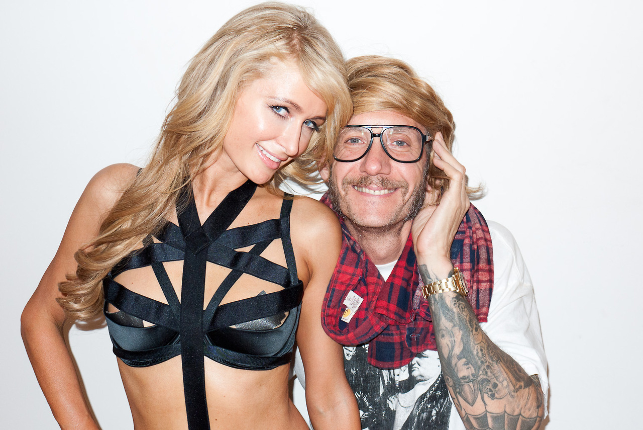 Paris and Nicky Hilton Visit Terry Richardson's Studio