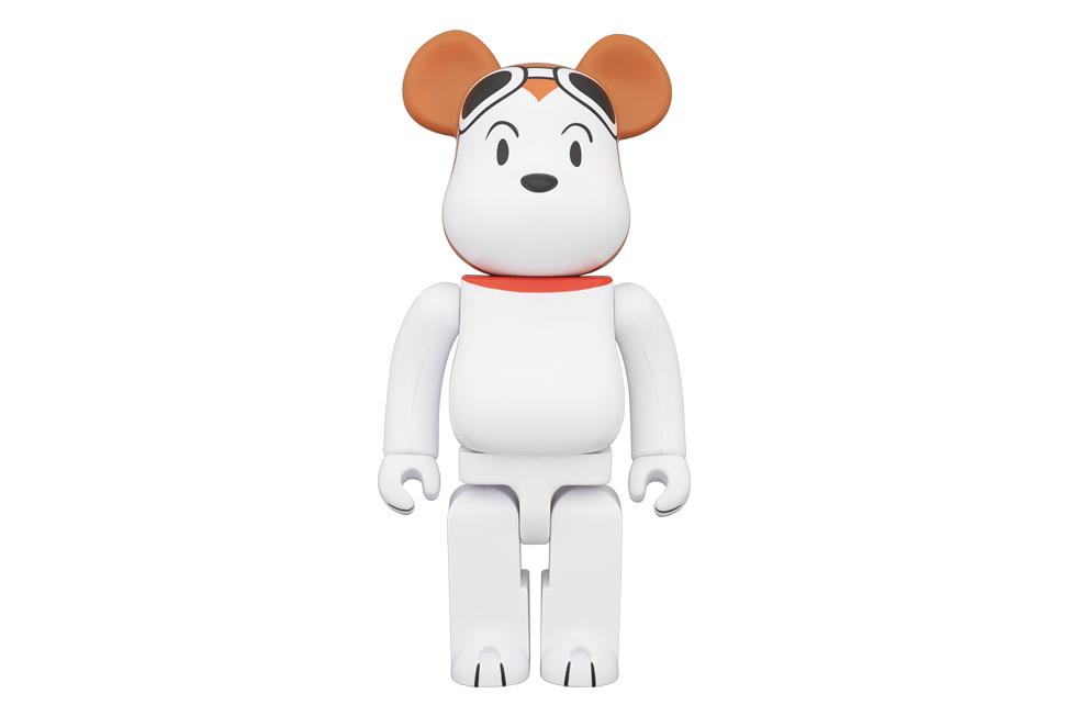 "Peanuts x Medicom Toy 400% & 1000% Snoopy ""Flying Ace"" Bearbricks"