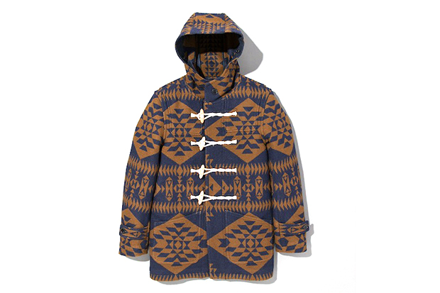 Pendleton x DELUXE Hooded Jacket Navy/Brown