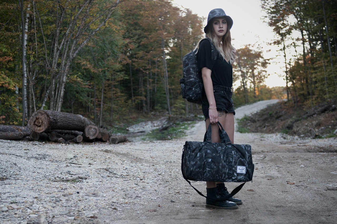 """Raised by Wolves x Herschel Supply Co. 2013 Fall/Winter """"Black Water Camo"""" Collection"""