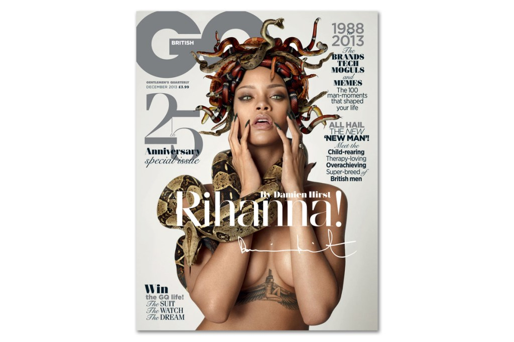Rihanna by Damien Hirst for British GQ's 25 Anniversary Issue