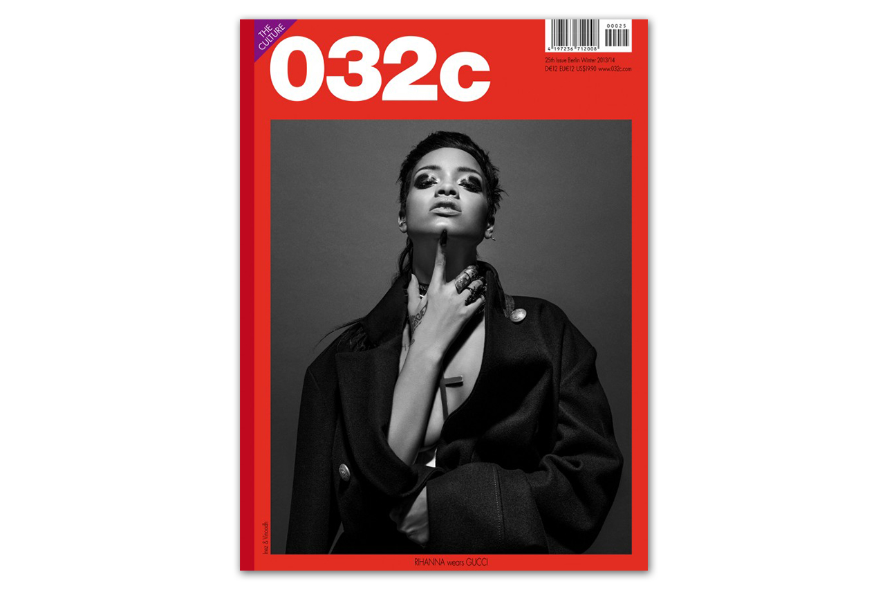 Rihanna Covers 032c Magazine Issue 25 Winter 2013/2014