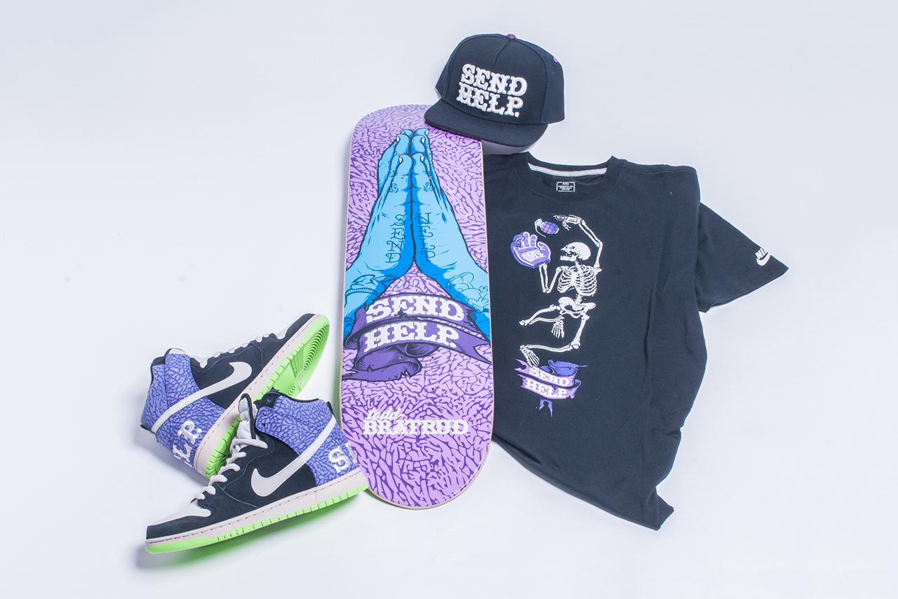 "Todd Bratrud x Nike SB Dunk High ""Send Help 2"""