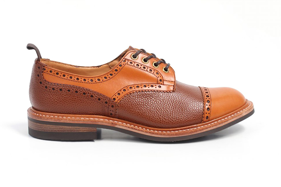 Tricker's for Triads 2013 Fall Two-Tone Leather Derby Brogues