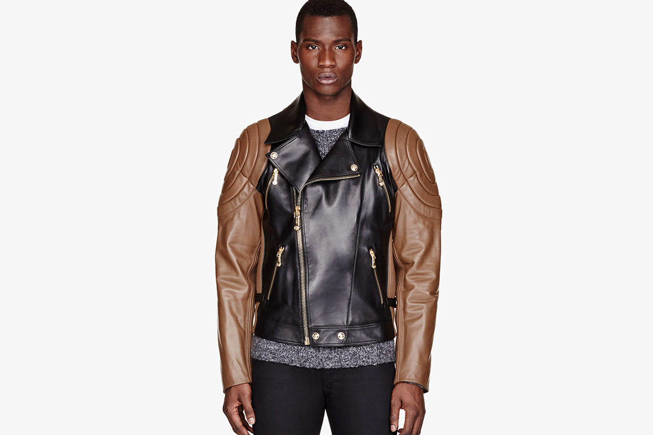 Versace Black &amp Brown Quilted Leather Jacket | HYPEBEAST