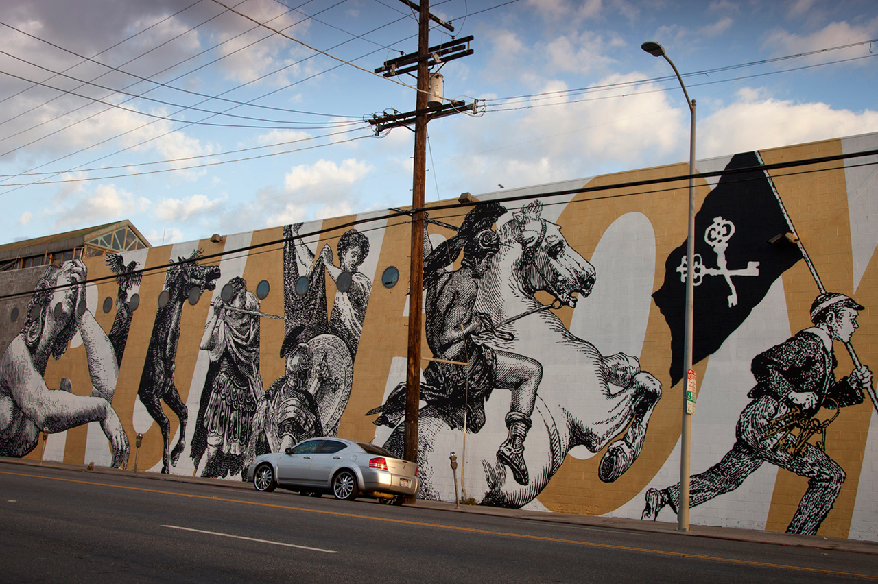 woodkid and cyrcle collaborate on los angeles mural