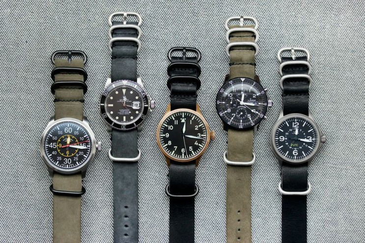 worn&wound Horween Leather NYC NATO Watchstraps