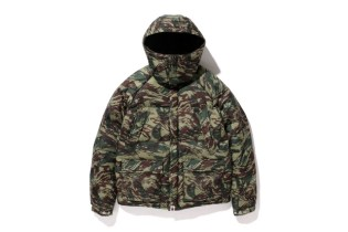 A Bathing Ape Lizard Camo Mountain Down Jacket