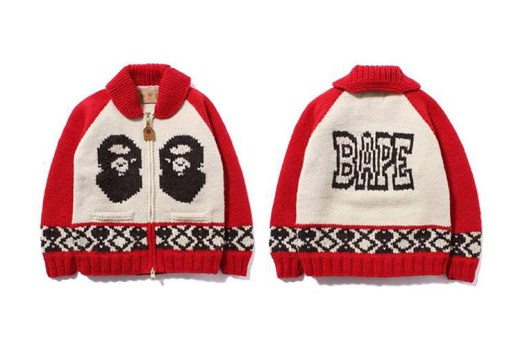 A Bathing Ape x Canadian Sweater Company 2013 Fall/Winter Cowichan Cardigan