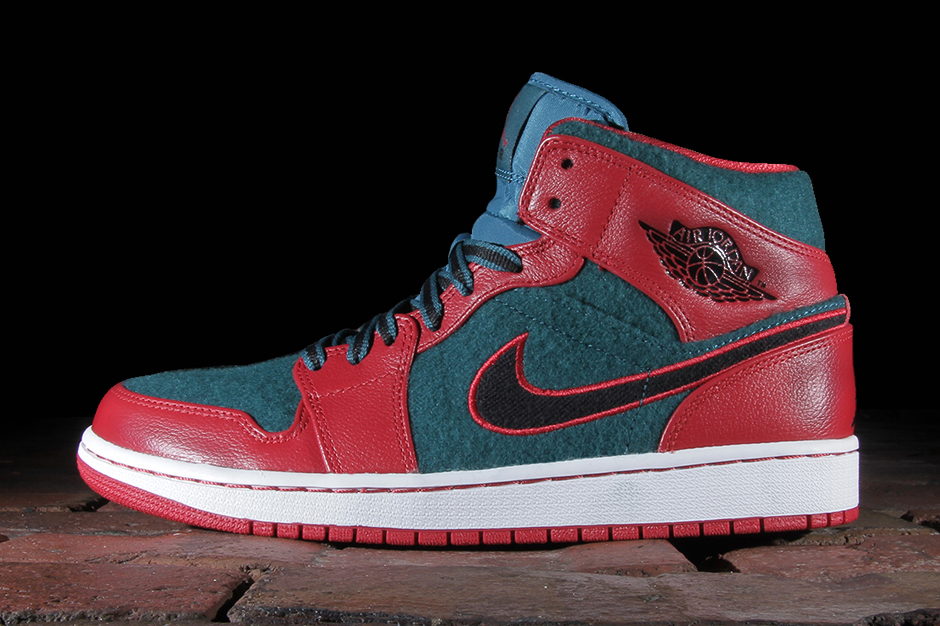 air jordan 1 mid gym redblack dark sea