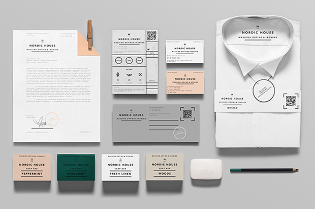 Anagrama Design Studio Rebrand's Nordic House's Dry Cleaning