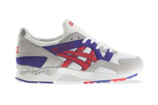 ASICS Gel Lyte V White/Fiery Red