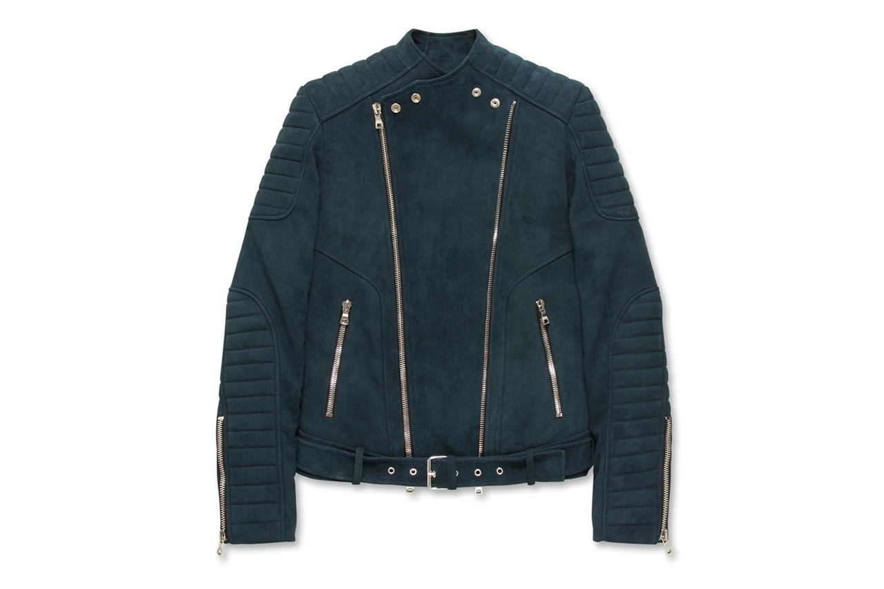Balmain Suede Riders Jacket