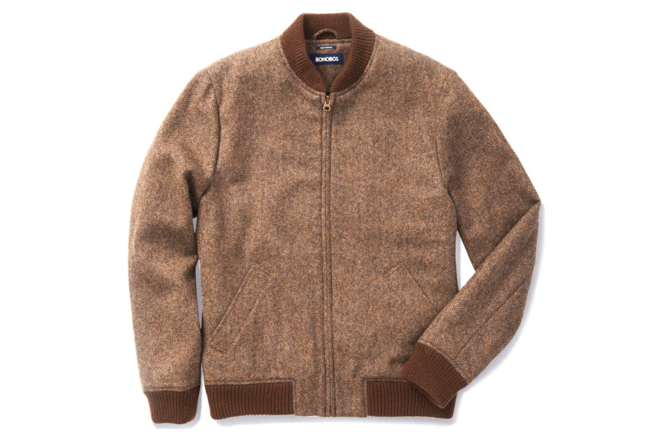 Bonobos Camden Tweed Baseball Jacket