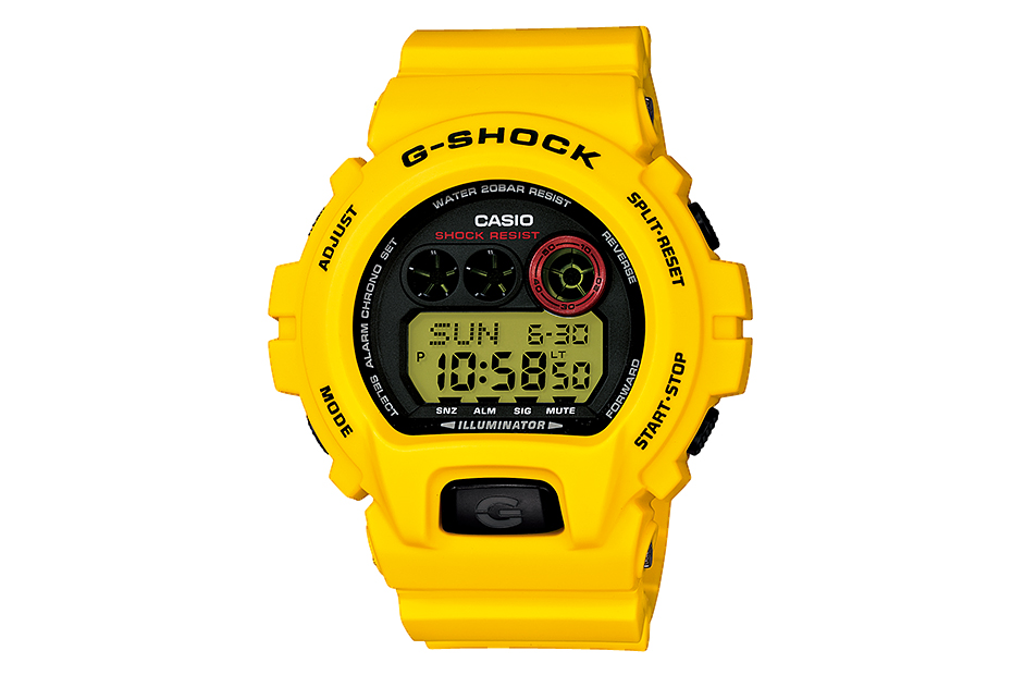 casio g shock 30th anniversary lightning yellow collection