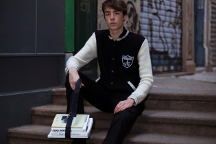 CLOT x Monsieur Lacenaire Teddy French Knitted Varsity Raiders Jacket