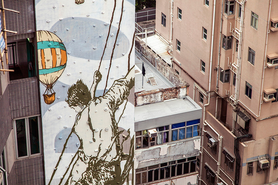 """CYRCLE. Paints """"Rise Above"""" Mural in Hong Kong"""