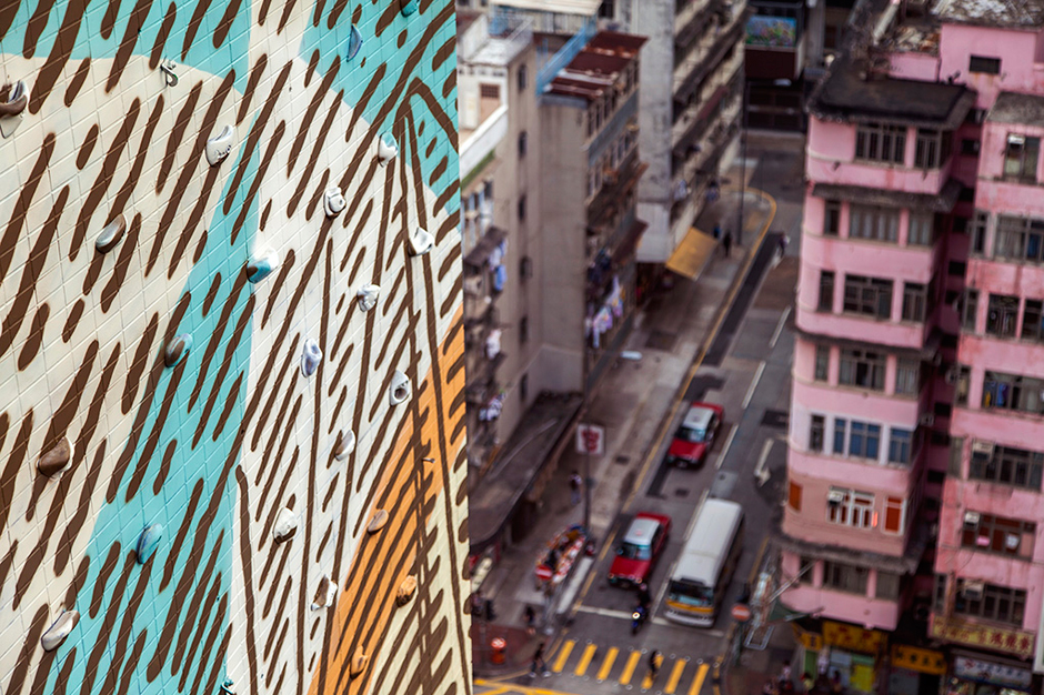 cyrcle paints rise above mural in hong kong
