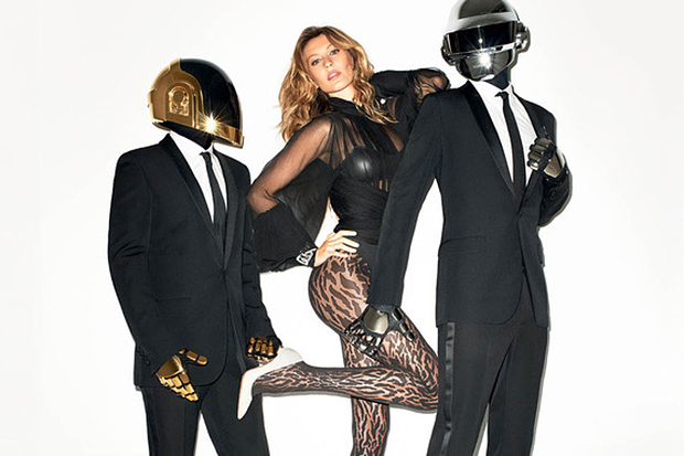 Daft Punk & Gisele Bündchen by Terry Richardson for The WSJ Magazine