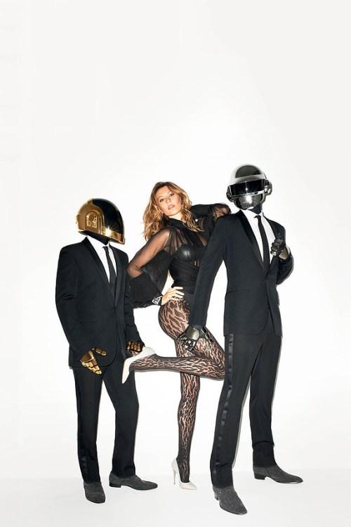 Daft Punk & Gisele Bündchen by Terry Richardson for The WSJ Magazine