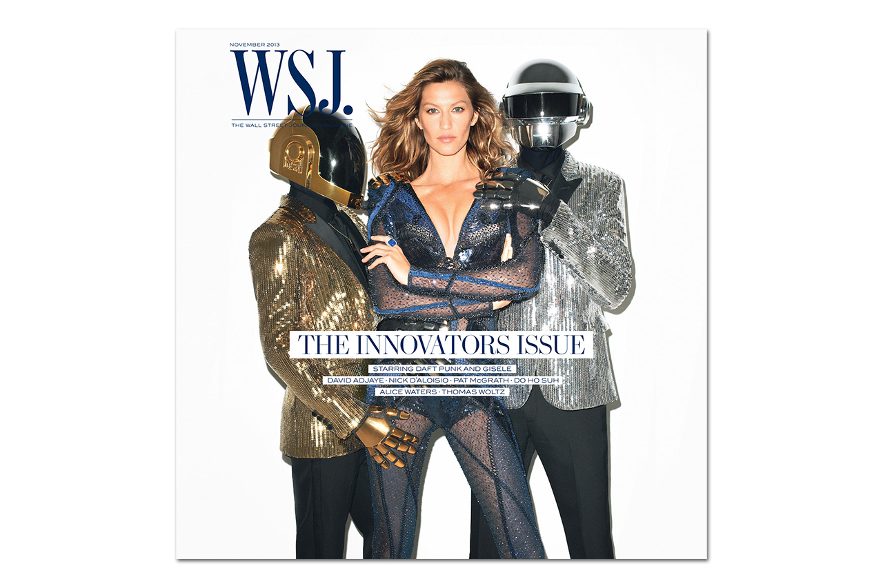 Daft Punk & Gisele Bundchen Cover the 2013 November Issue of The WSJ Magazine