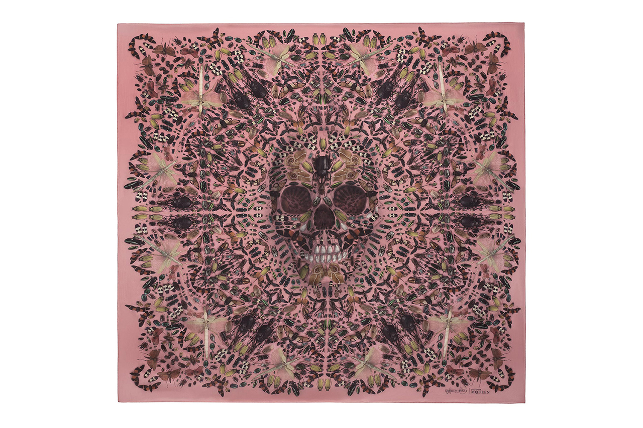 damien hirst alexander mcqueen celebrate the 10th anniversary of the skull scarf