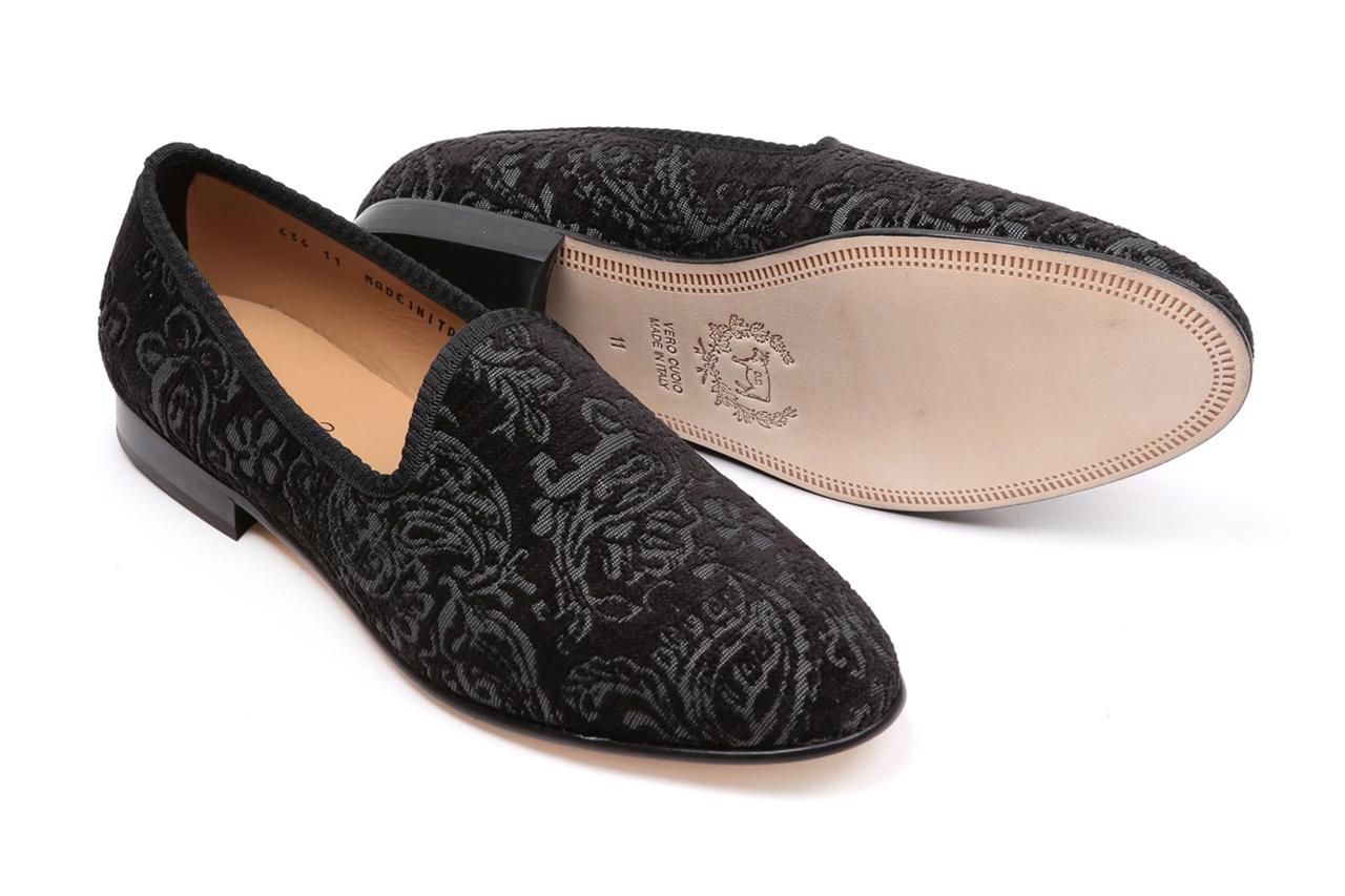 del toro laser paisley velvet slipper