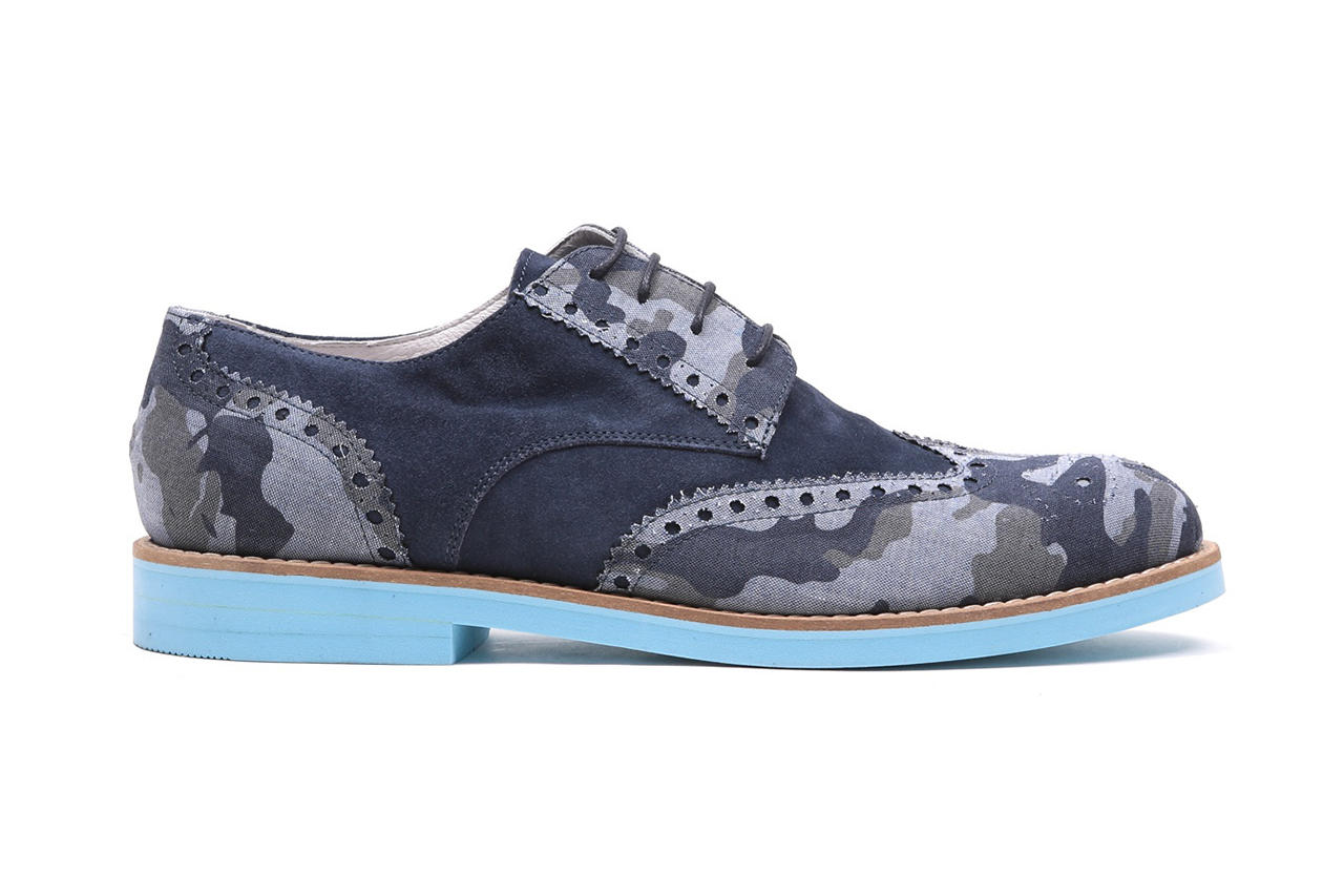 del toro navy camo linen collection