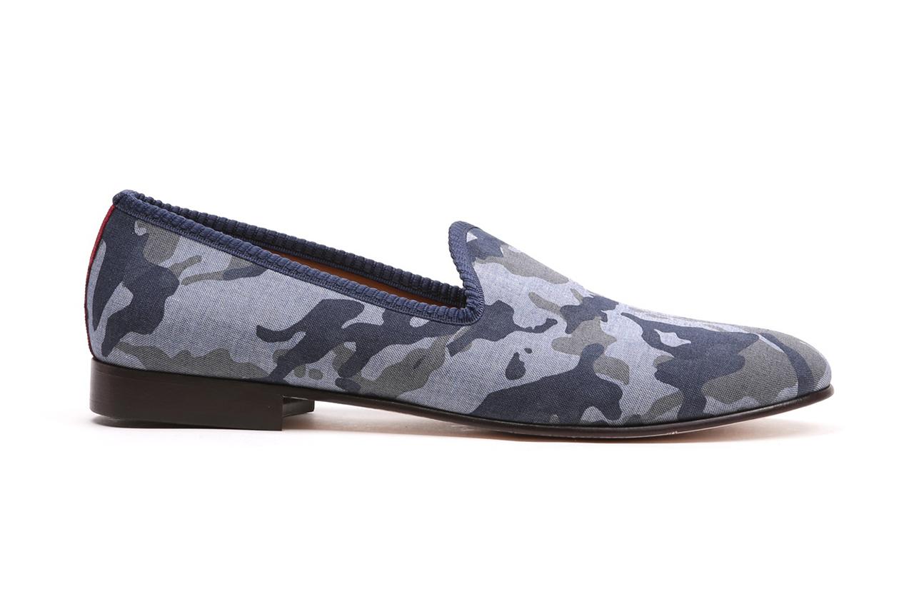 Del Toro Navy Camo Linen Collection