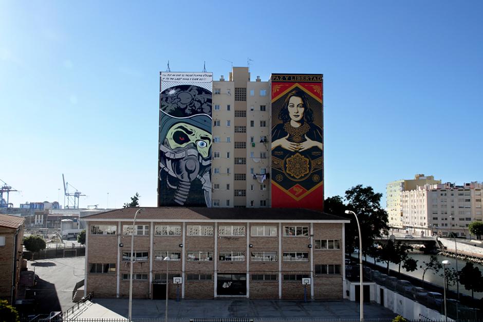 Shepard Fairey & D*Face Mural in Spain