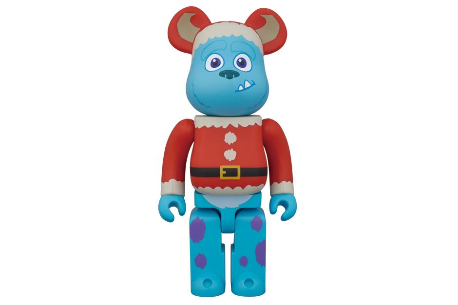 """Disney Pixar x Medicom Toy 100% & 400% """"Christmas Party"""" Bearbrick"""