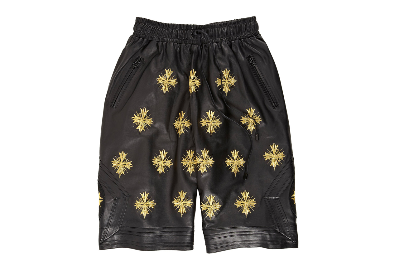 """En Noir Embroidered Leather Boxing Shorts for Barneys & Jay Z's """"A New York Holiday"""""""