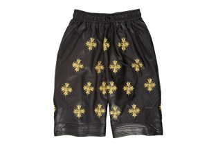 "En Noir Embroidered Leather Boxing Shorts for Barneys & Jay Z's ""A New York Holiday"""