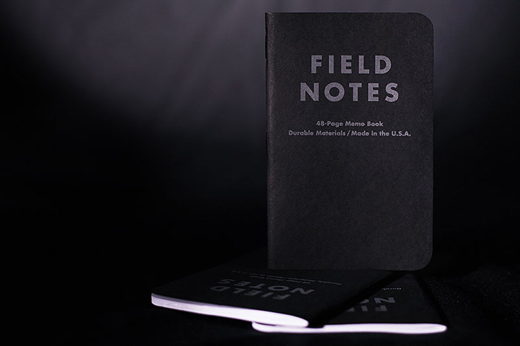 field notes pitch black notebook