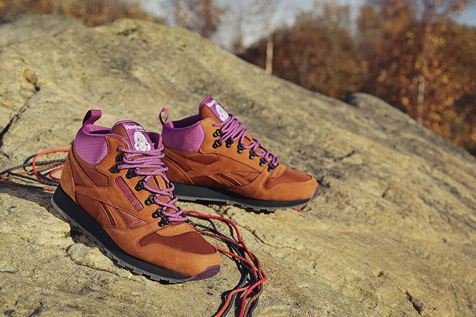 foot patrol x reebok classic leather mid on the rocks