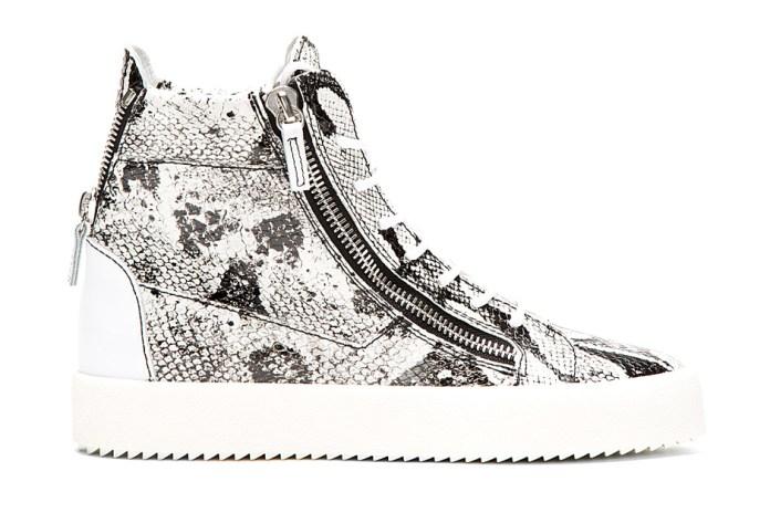 Giuseppe Zanotti Python High-Top Sneakers White/Black