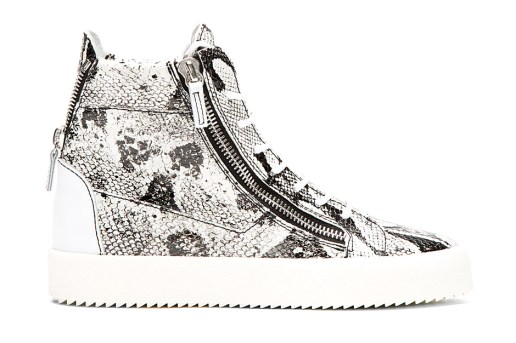 Giuseppe Zanotti Python High-Top Sneakers White/Black