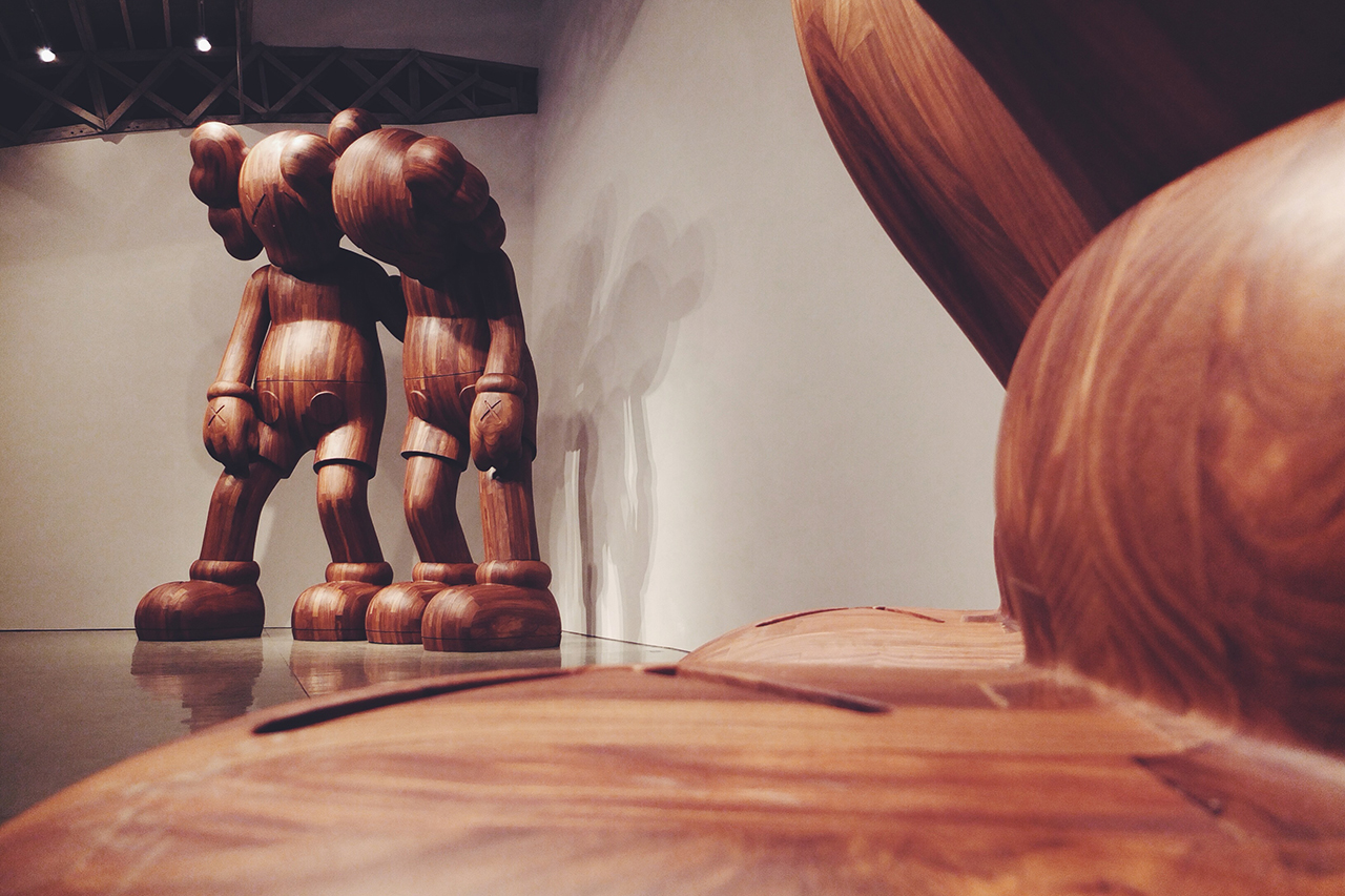 kaws at this time and along the way installation mary boone gallery