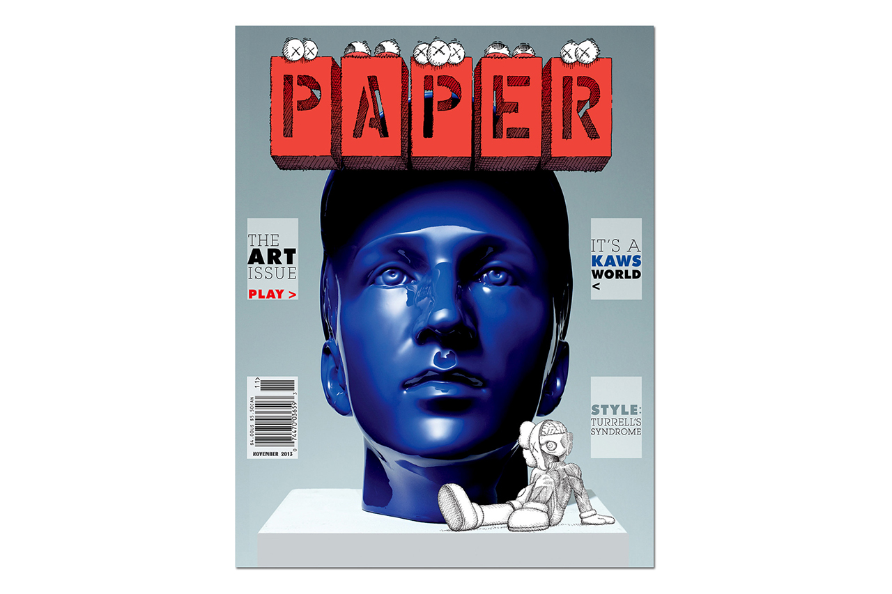 """KAWS Covers the 2013 November """"Art Issue"""" of PAPER Magazine"""