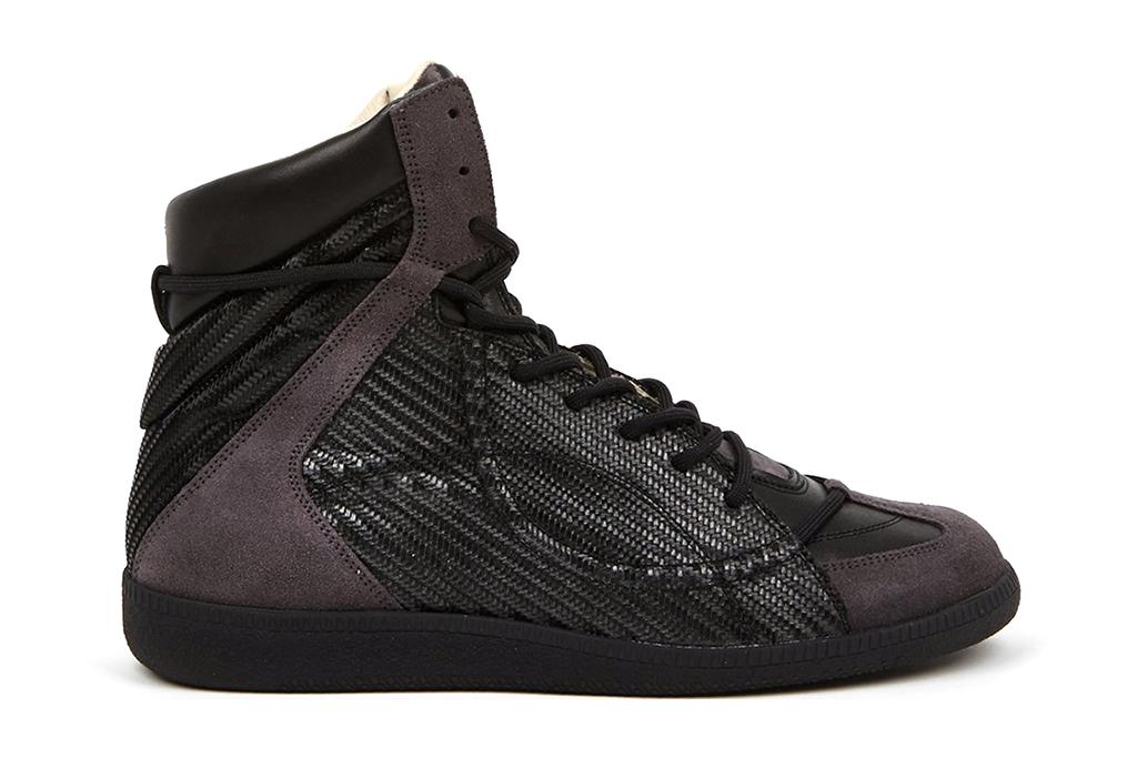 Maison Martin Margiela 22 Woven Hidden Lace High-Top Sneakers