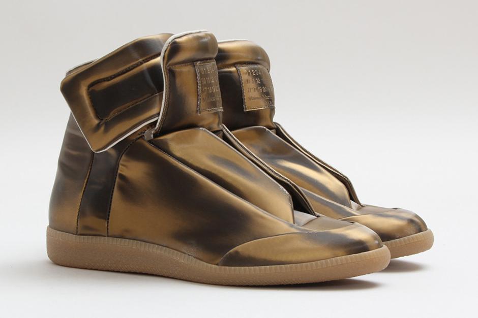 maison martin margiela high top sneaker bronze