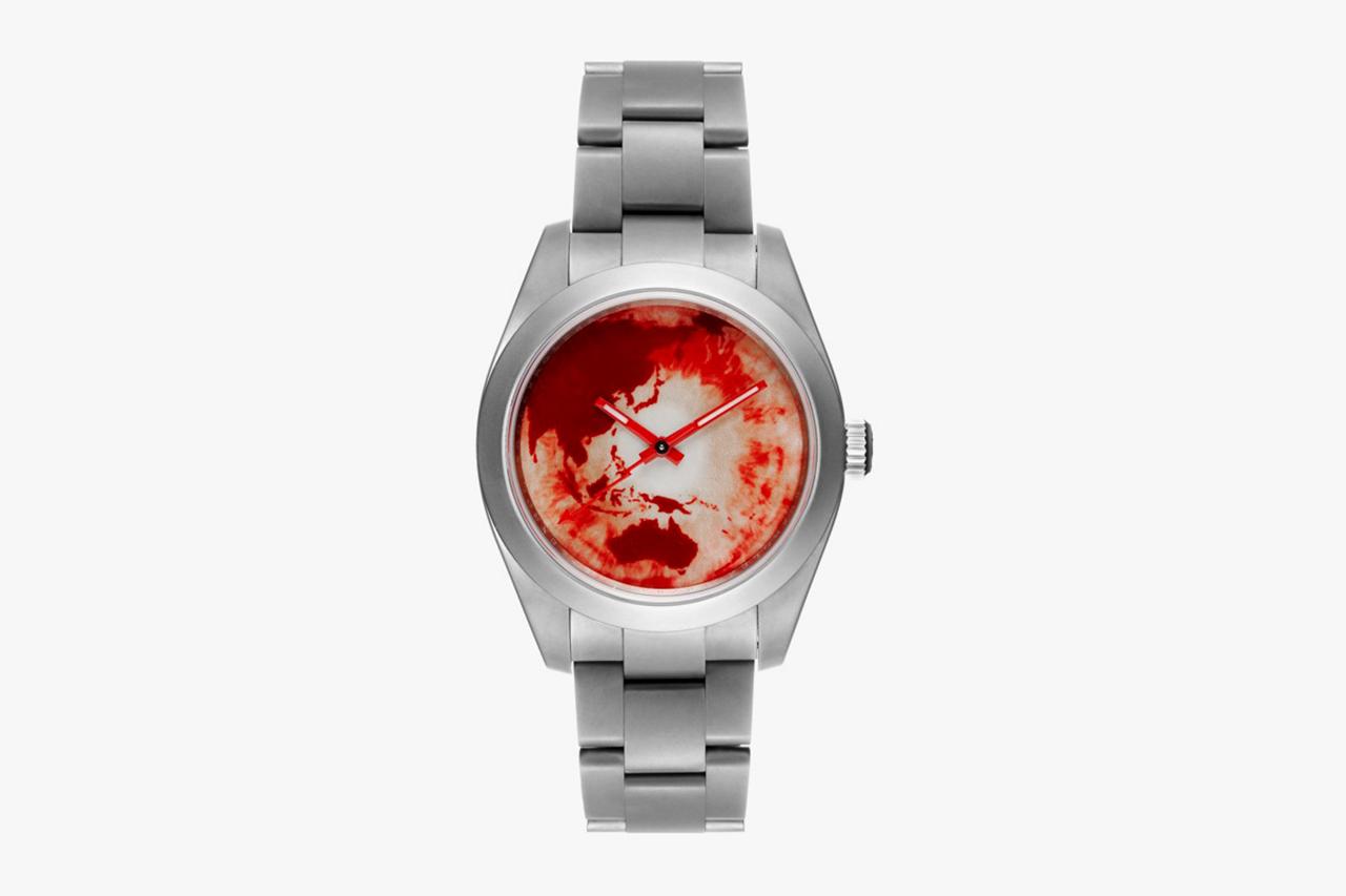 """Marc Quinn x Bamford Watch Department Rolex Milgauss """"Red Ocean Orbit"""""""