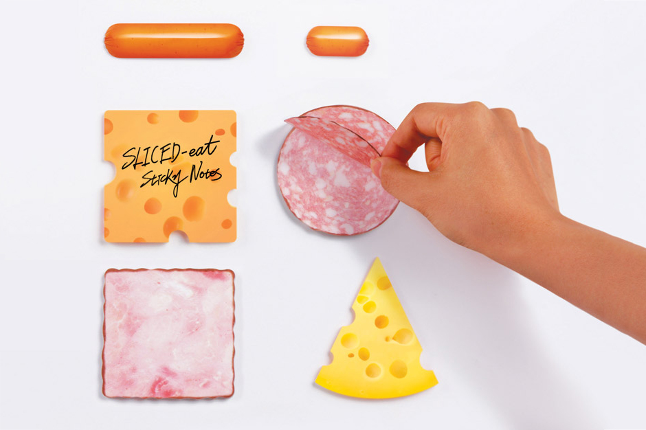 "Marsmers Creates ""Sliced Eat"" Sticky Notes"