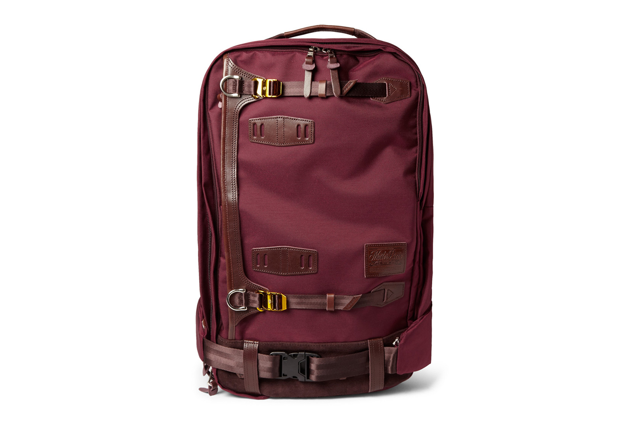 master-piece 2013 Fall/Winter Potential Leather-Trimmed Cordura Backpack