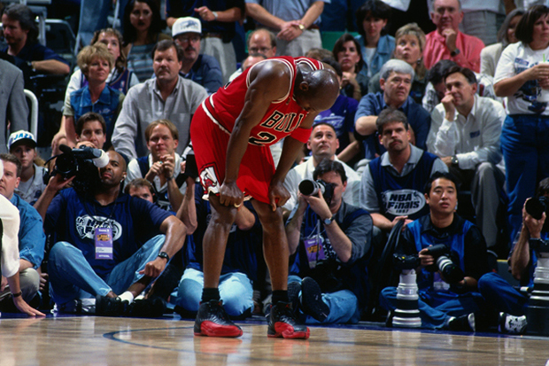 michael jordans shoes from legendary flu game for sale