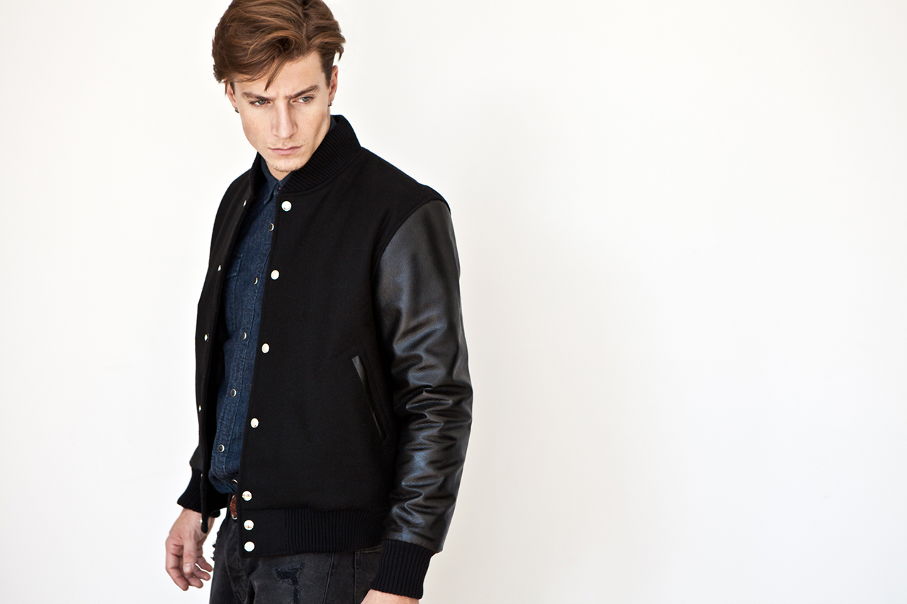 mki black 2013 fallwinter varsity jackets
