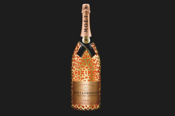 Moët & Chandon Moët Nectar Impérial Rosé Leopard Luxury Edition Methuselah Bottle